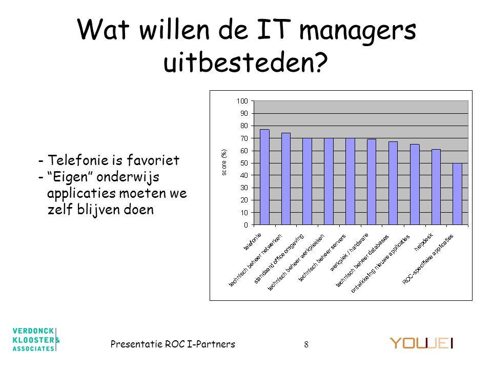 Wat willen de IT managers uitbesteden