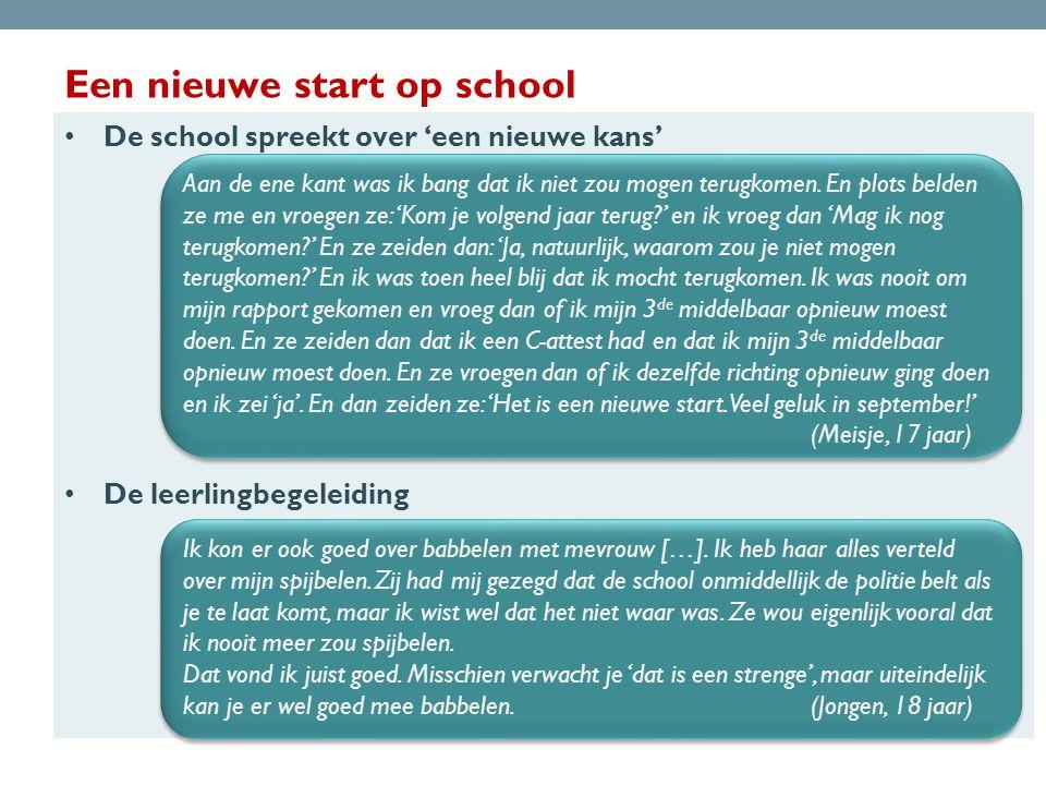 Een nieuwe start op school