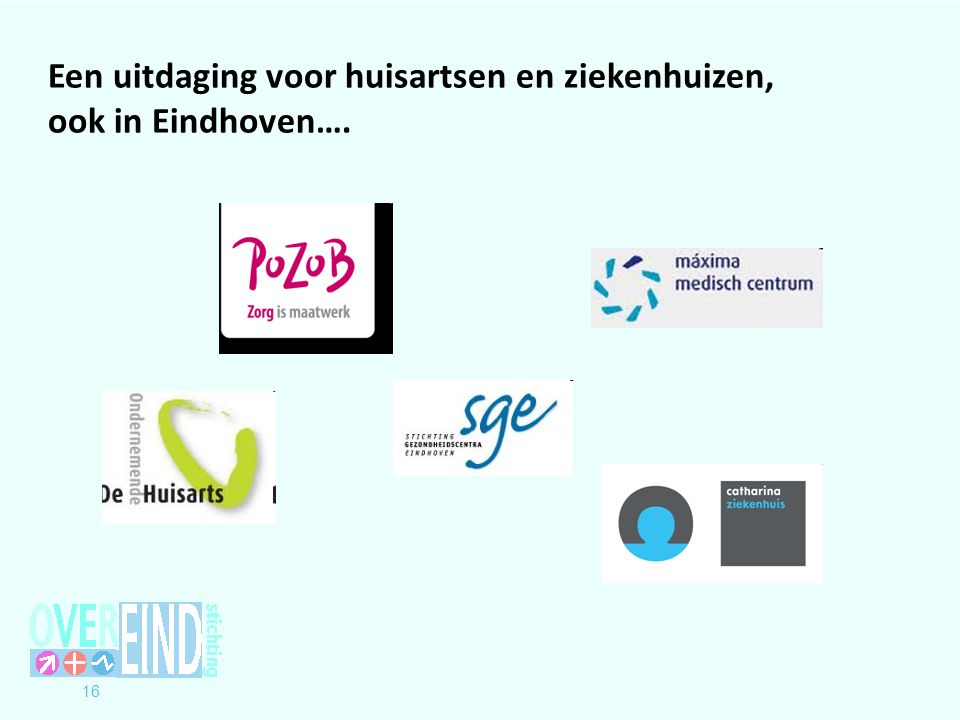 Een uitdaging voor huisartsen en ziekenhuizen, ook in Eindhoven….