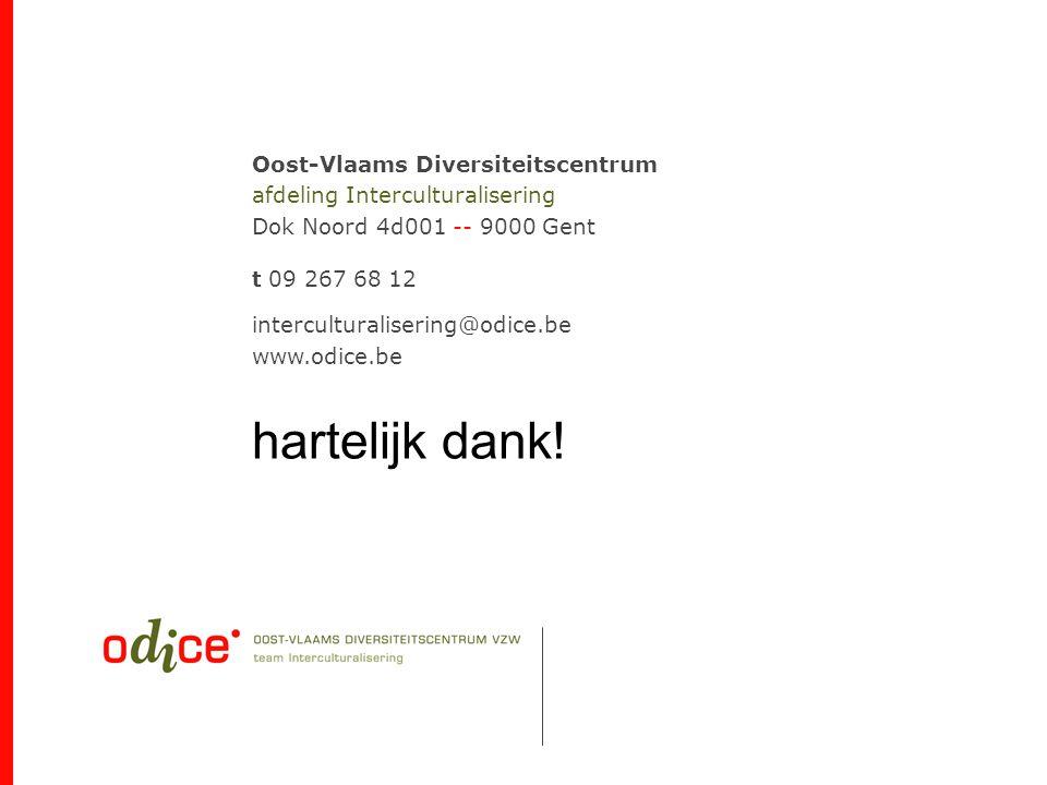 Oost-Vlaams Diversiteitscentrum afdeling Interculturalisering Dok Noord 4d001 -- 9000 Gent t 09 267 68 12