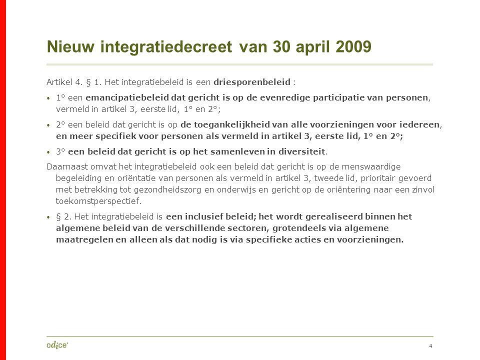 Nieuw integratiedecreet van 30 april 2009