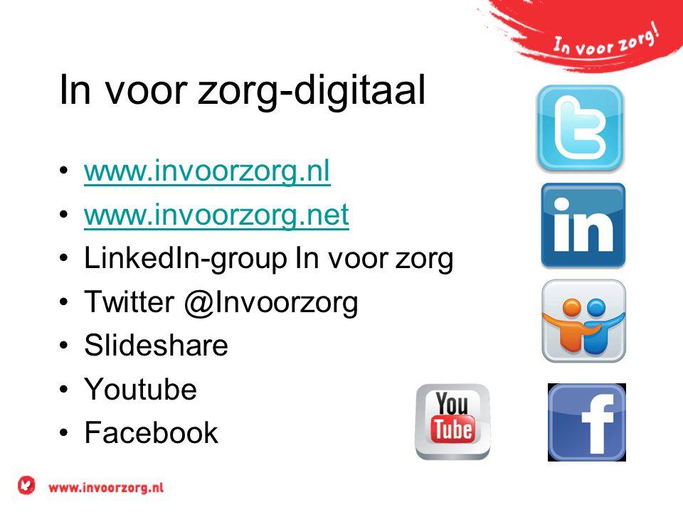 In voor zorg-digitaal www.invoorzorg.nl www.invoorzorg.net