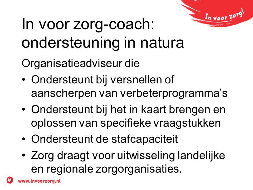 In voor zorg-coach: ondersteuning in natura