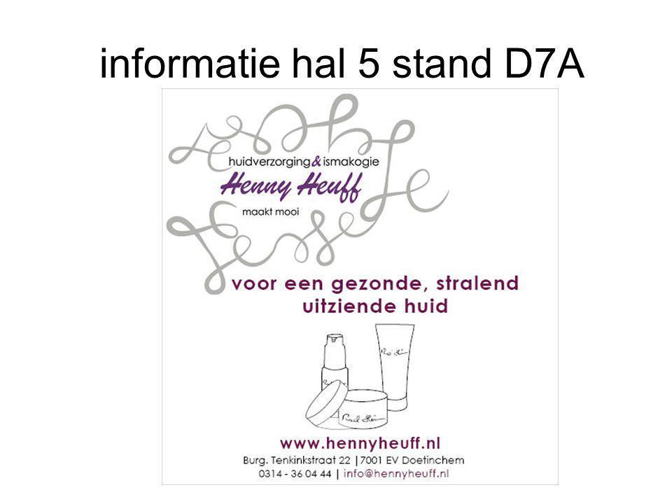informatie hal 5 stand D7A