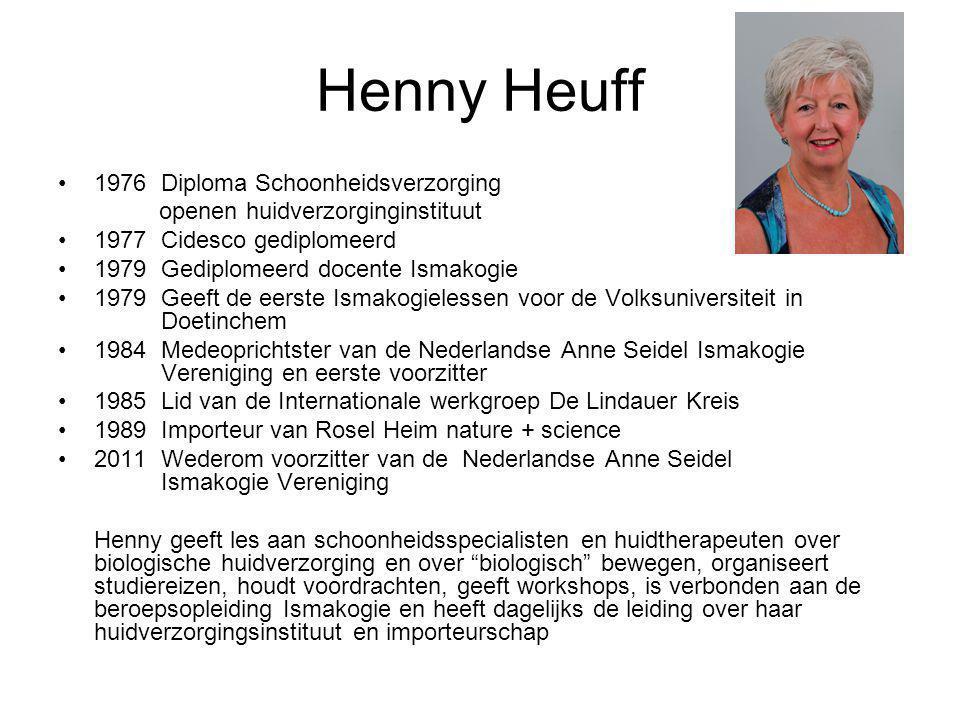 Henny Heuff 1976 Diploma Schoonheidsverzorging