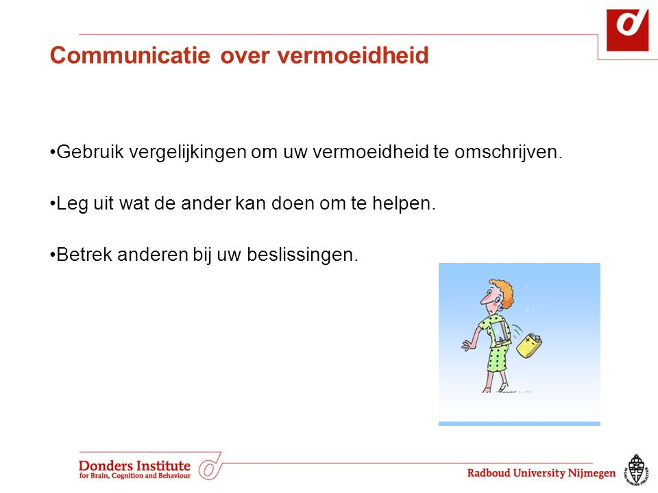 Communicatie over vermoeidheid