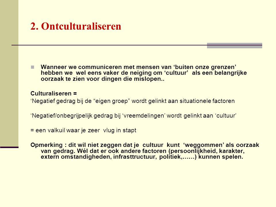2. Ontculturaliseren