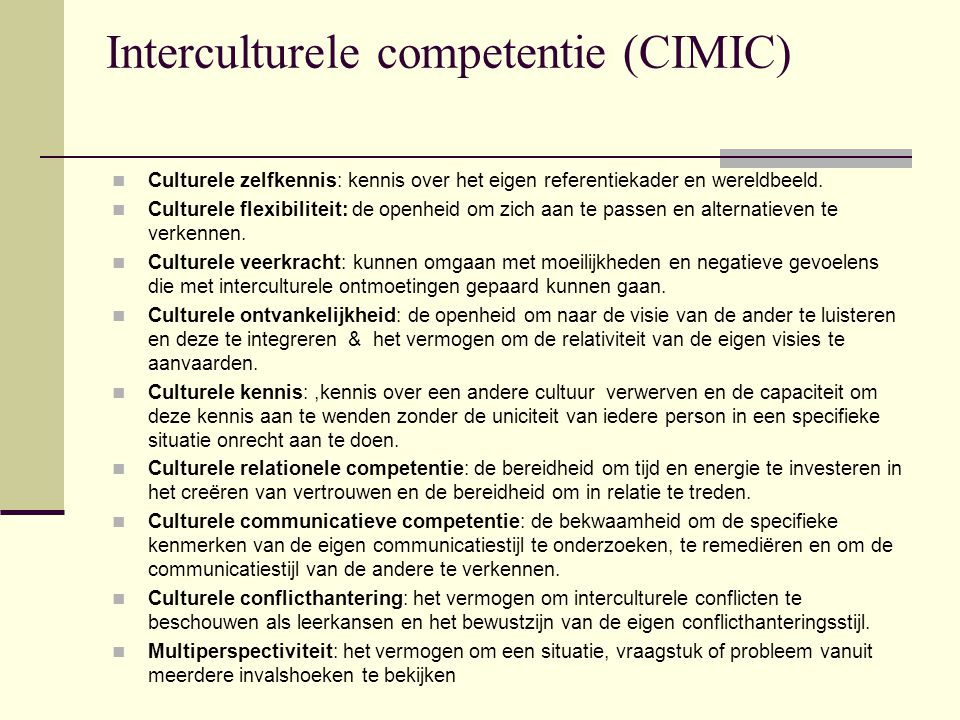 Interculturele competentie (CIMIC)