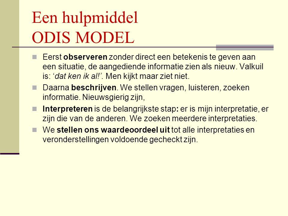 Een hulpmiddel ODIS MODEL