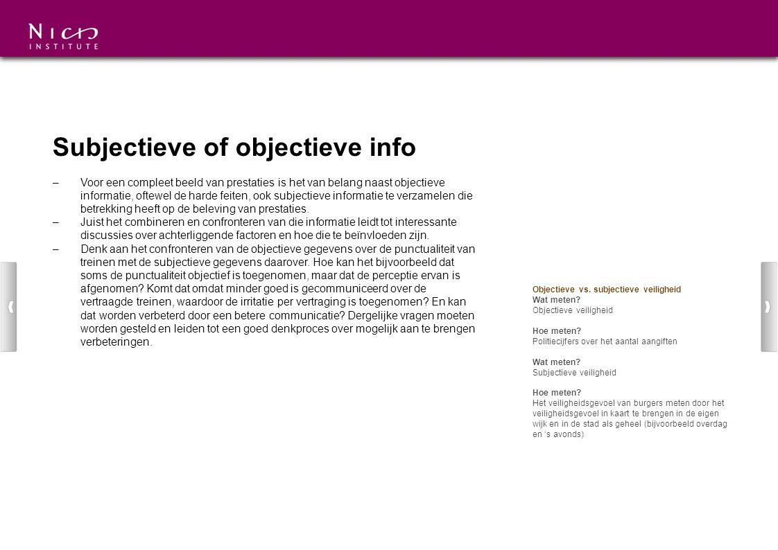 Subjectieve of objectieve info
