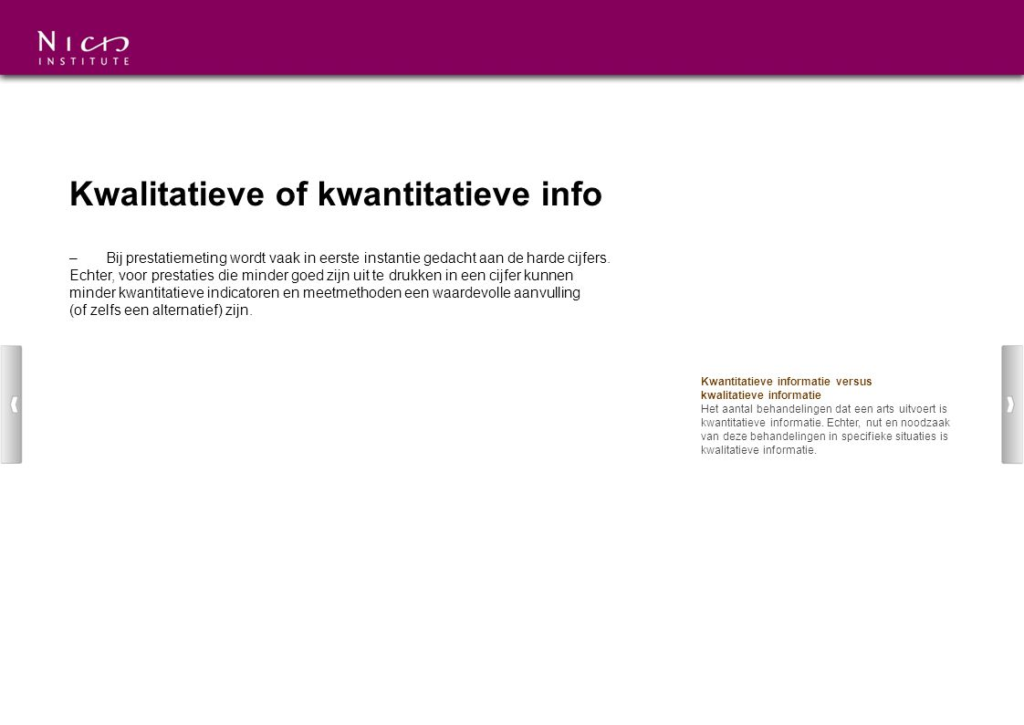 Kwalitatieve of kwantitatieve info