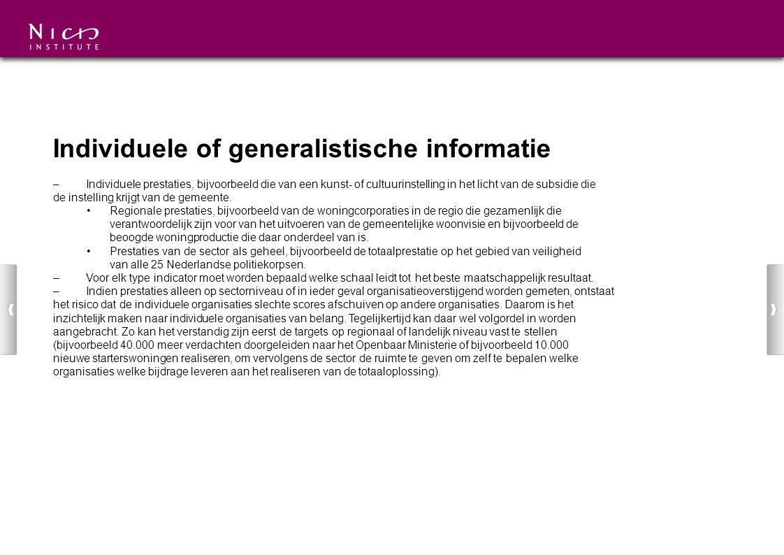 Individuele of generalistische informatie