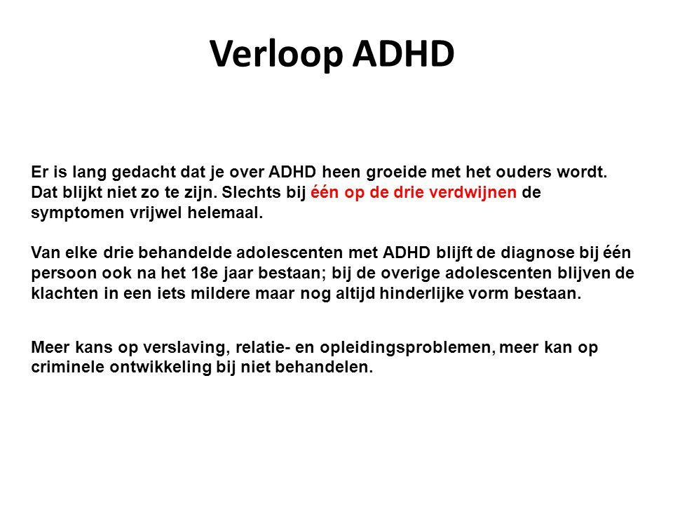 Verloop ADHD