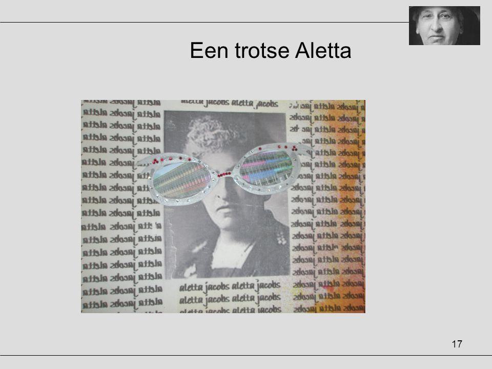 Een trotse Aletta
