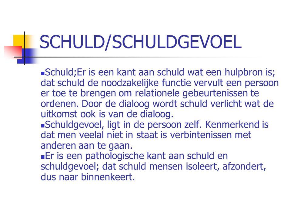 SCHULD/SCHULDGEVOEL