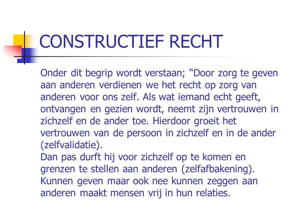 CONSTRUCTIEF RECHT