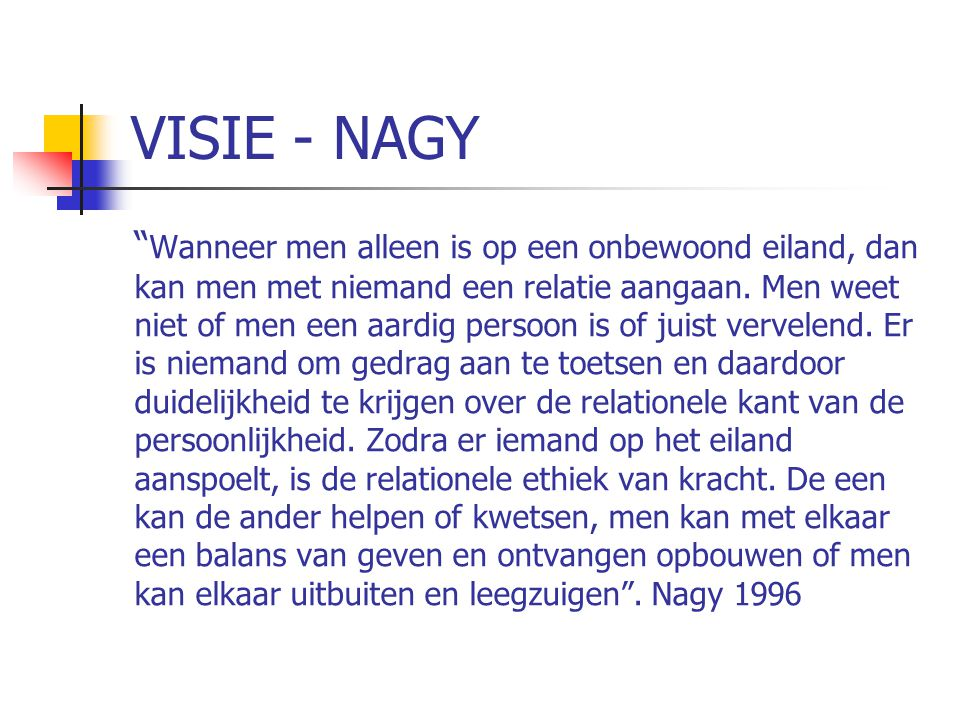 VISIE - NAGY