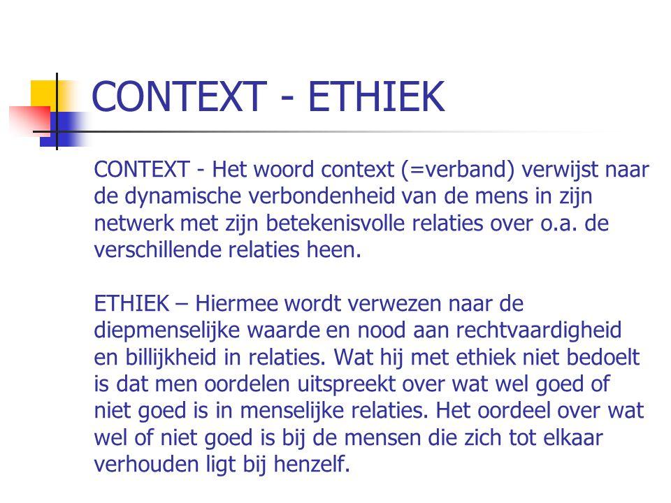CONTEXT - ETHIEK