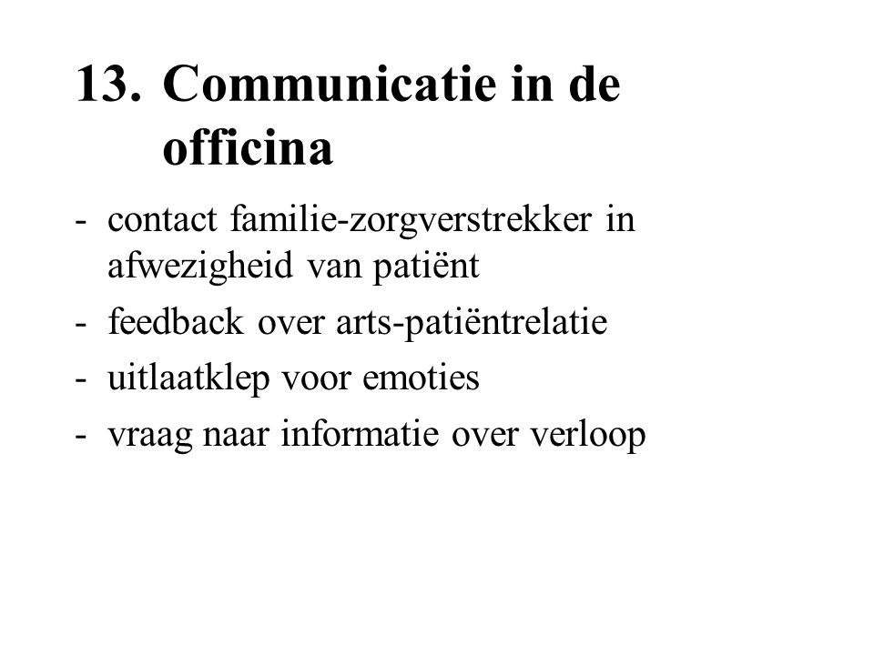 13. Communicatie in de officina