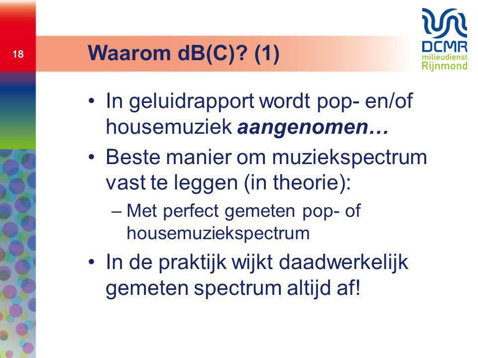 In geluidrapport wordt pop- en/of housemuziek aangenomen…