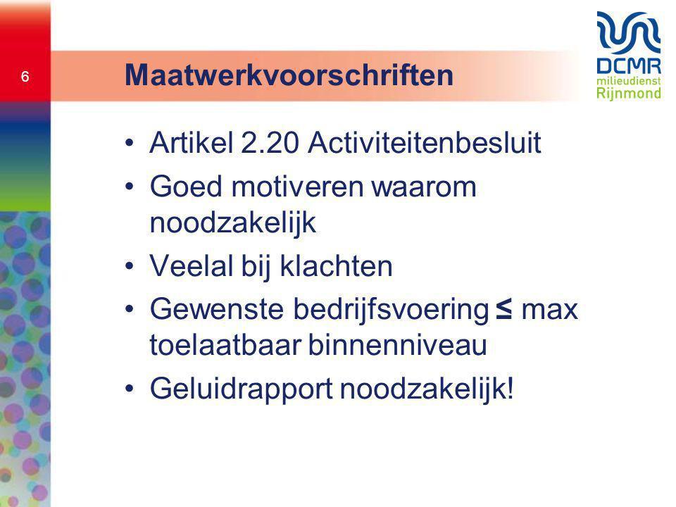 Maatwerkvoorschriften