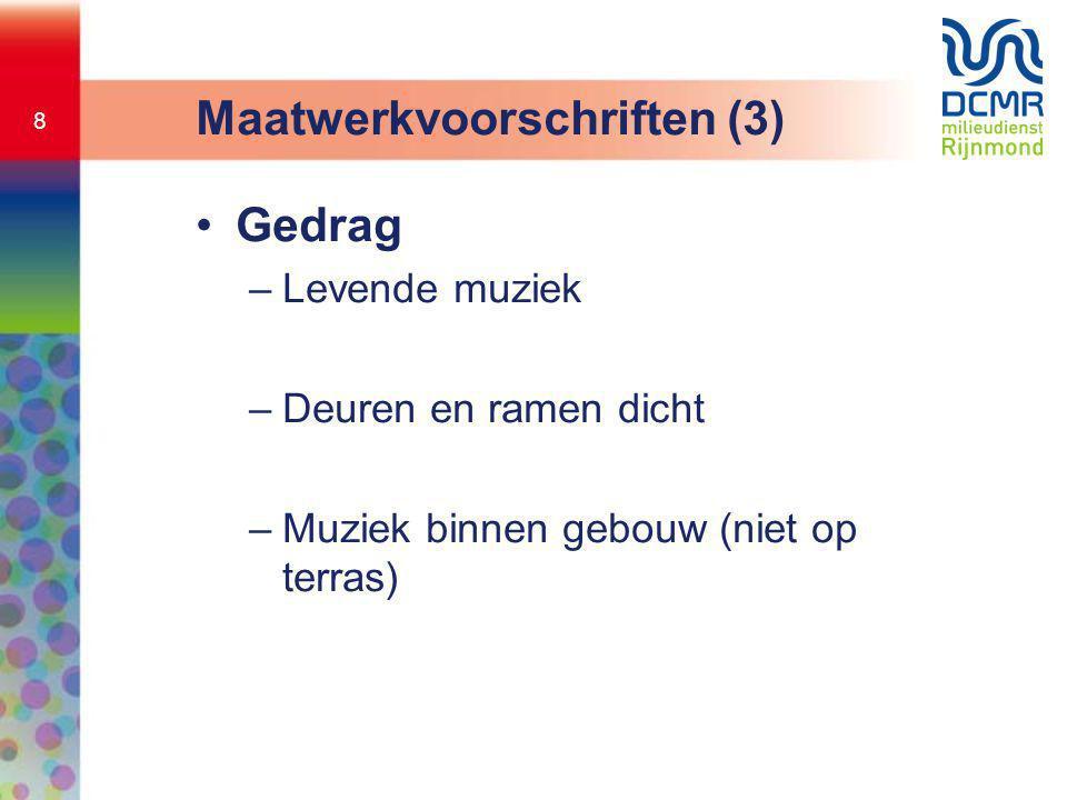 Maatwerkvoorschriften (3)