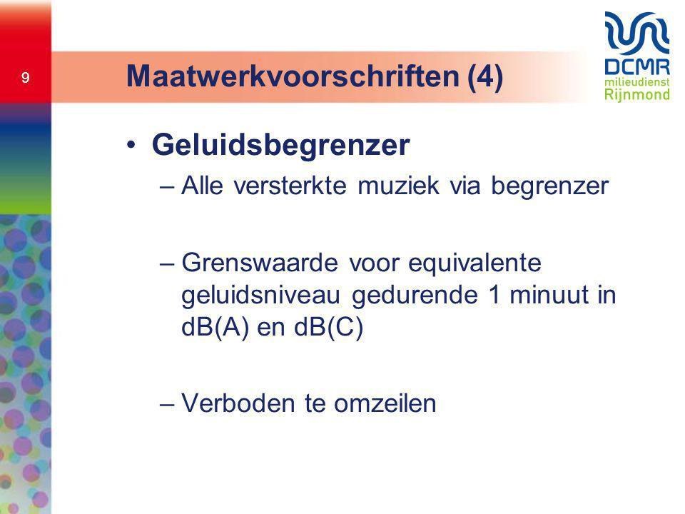 Maatwerkvoorschriften (4)