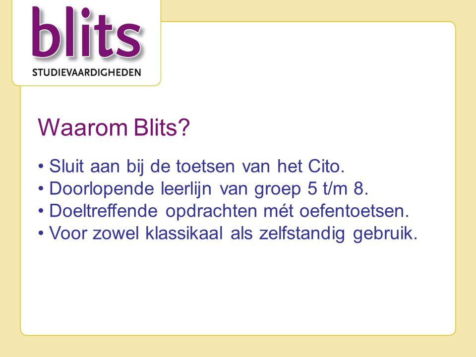 Waarom Blits Sluit aan bij de toetsen van het Cito.