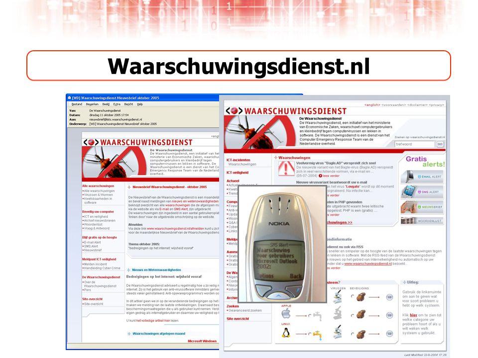 Waarschuwingsdienst.nl Website Alerts (e-mail & sms)