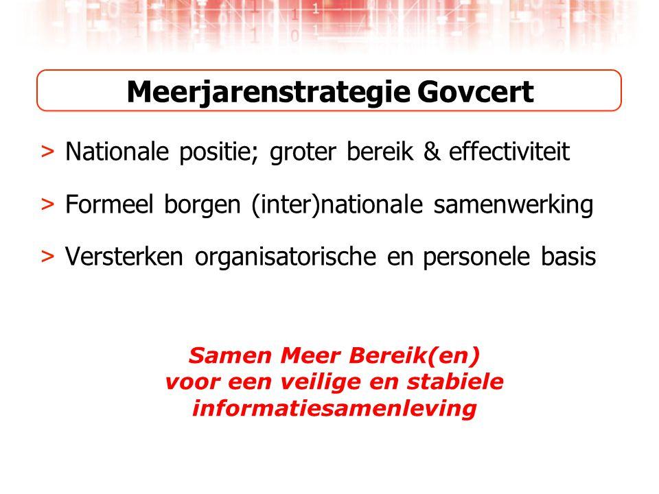 Meerjarenstrategie Govcert