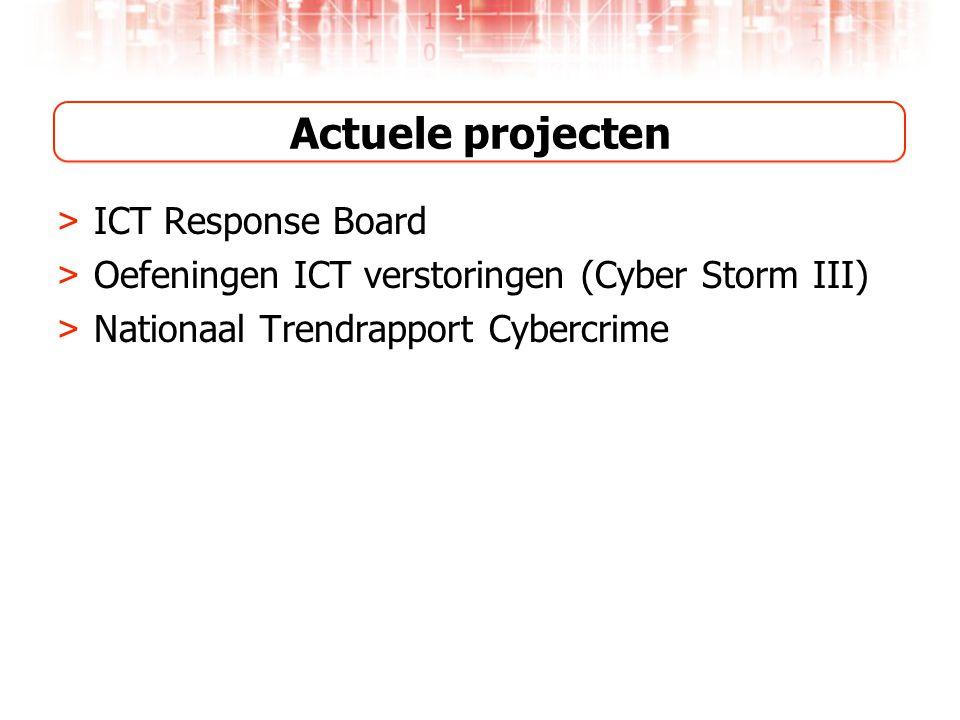 Actuele projecten ICT Response Board