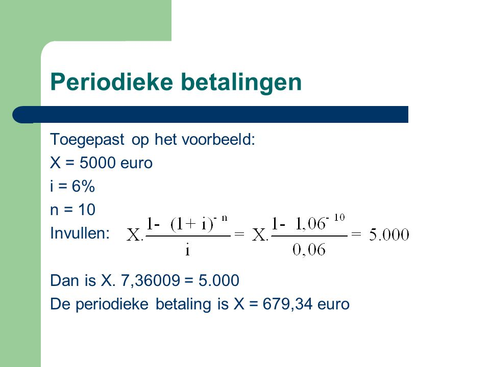 Periodieke betalingen