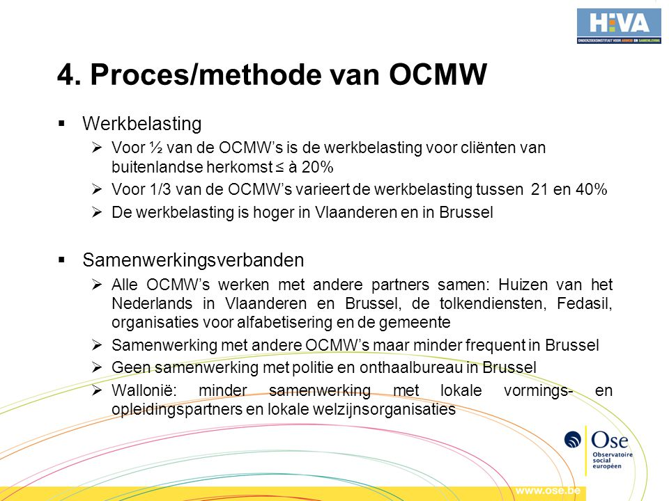 4. Proces/methode van OCMW