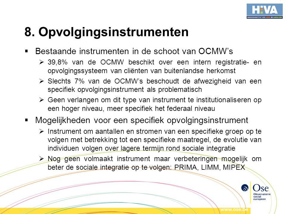 8. Opvolgingsinstrumenten