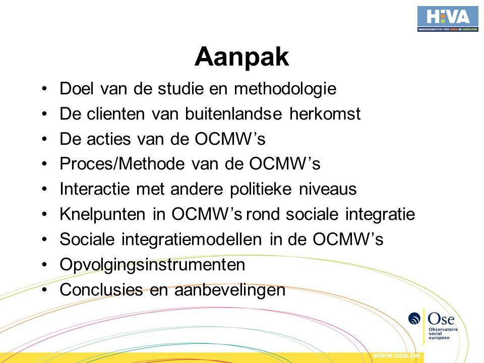 Aanpak Doel van de studie en methodologie