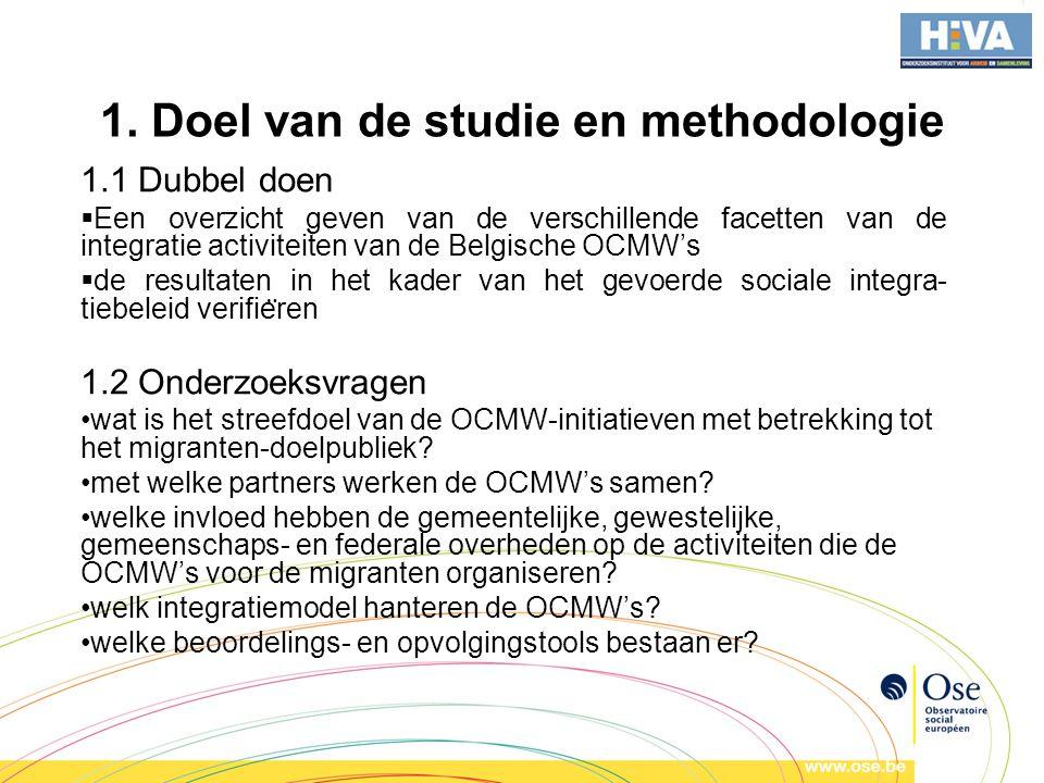 1. Doel van de studie en methodologie