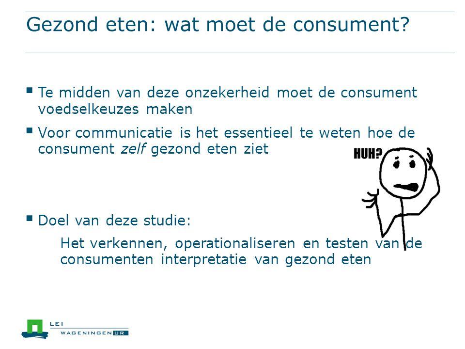 Gezond eten: wat moet de consument