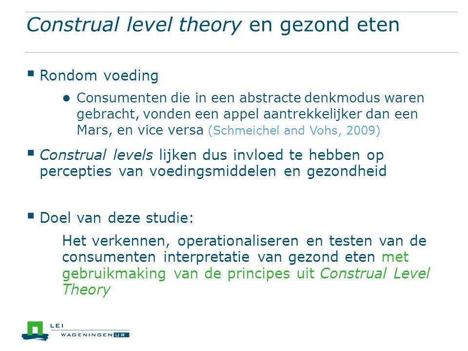 Construal level theory en gezond eten