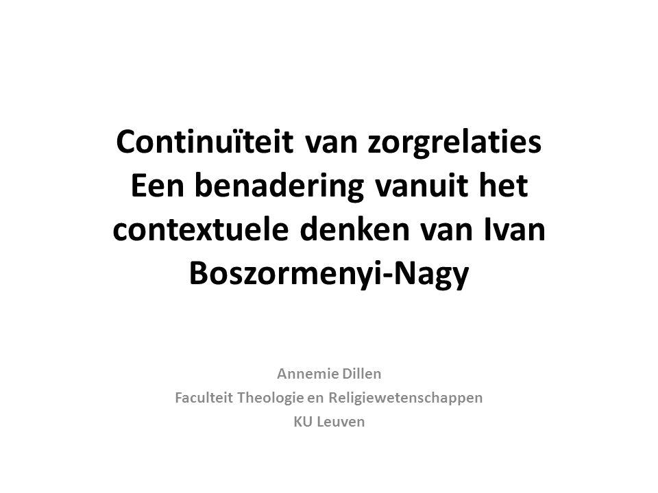 Annemie Dillen Faculteit Theologie en Religiewetenschappen KU Leuven