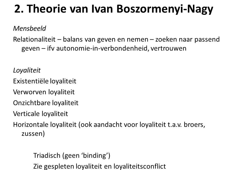 2. Theorie van Ivan Boszormenyi-Nagy