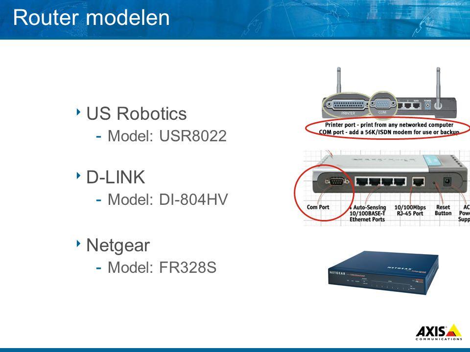 Router modelen US Robotics D-LINK Netgear Model: USR8022