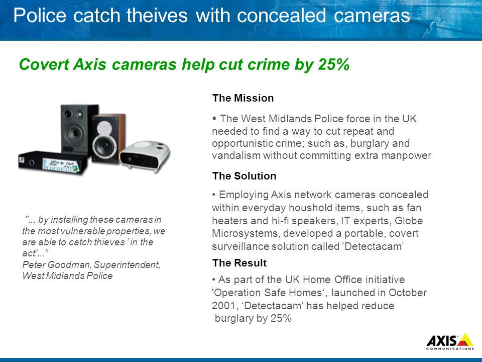 Police catch theives with concealed cameras