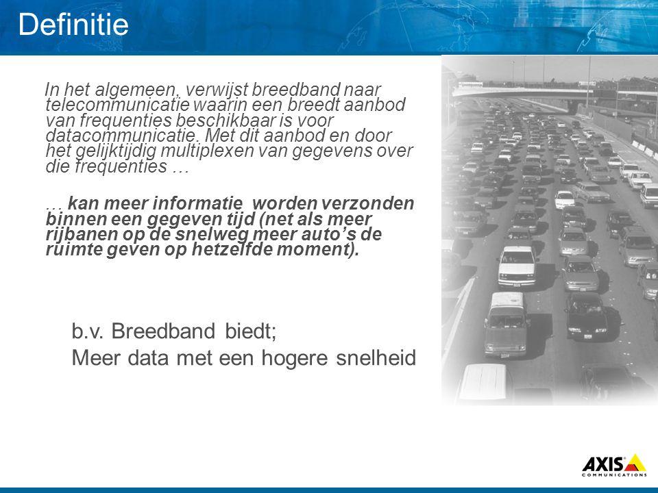 Definitie b.v. Breedband biedt; Meer data met een hogere snelheid