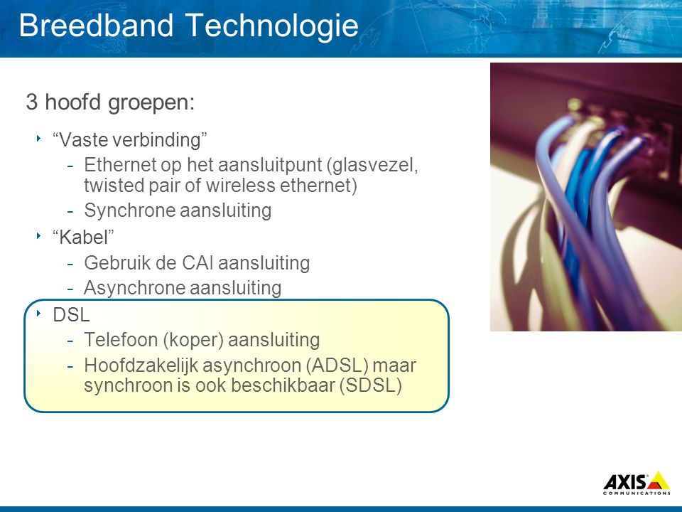 Breedband Technologie