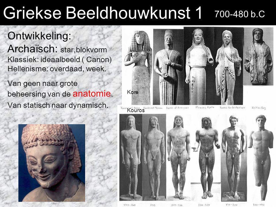Griekse Beeldhouwkunst 1