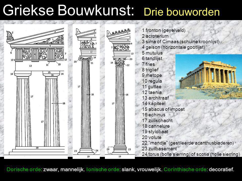 Griekse Bouwkunst: Drie bouworden
