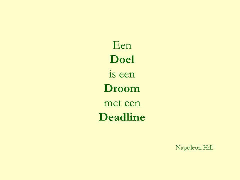 Een Doel is een Droom met een Deadline Napoleon Hill