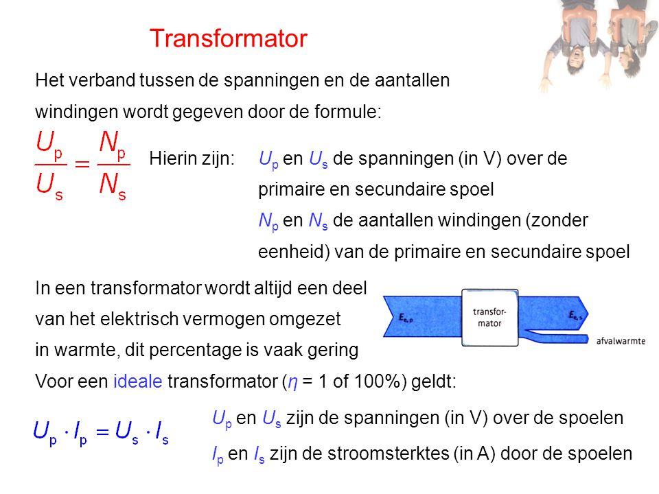 Transformator Het verband tussen de spanningen en de aantallen