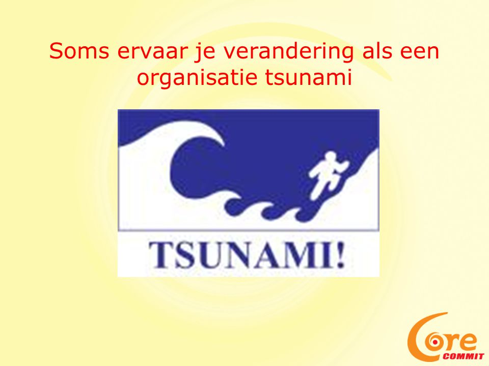 Soms ervaar je verandering als een organisatie tsunami