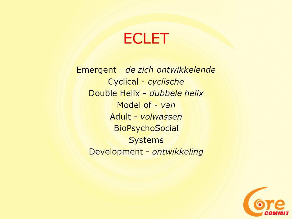 ECLET Emergent - de zich ontwikkelende Cyclical - cyclische